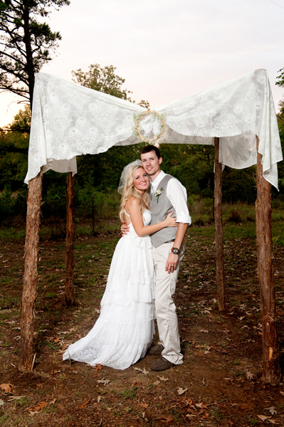 Handmade Arkansas country wedding