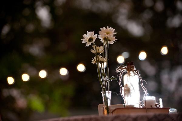 rustic daisy centerpiece