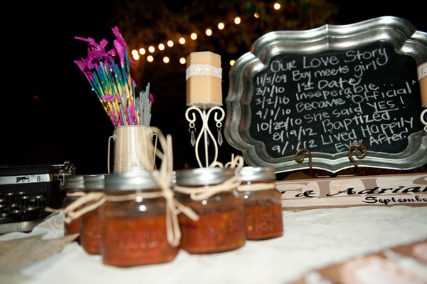 salsa wedding favors