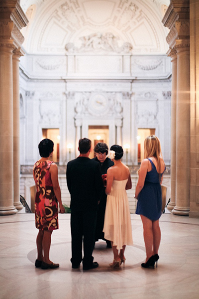 San Francisco city hall elopement ceremony