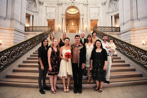 intimate San Francisco courthouse wedding