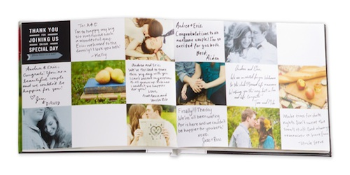 Thank you wedding album page