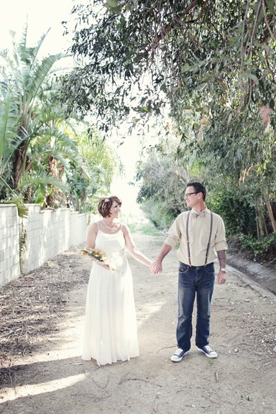 california backyard wedding