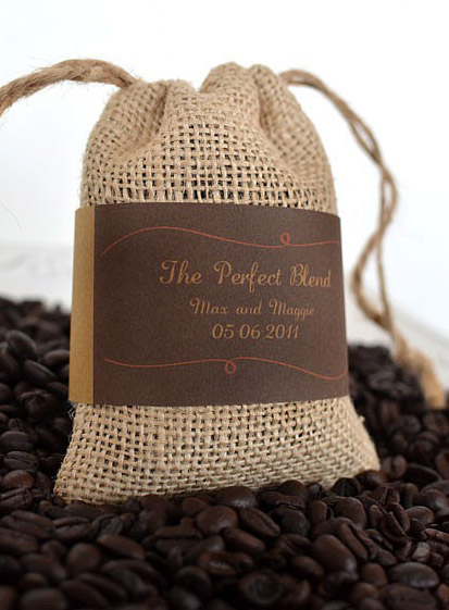 coffee favor bags