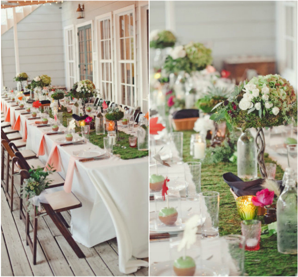 Beautiful Moss Can Be A Great Accent Piece To Any Intimate Wedding. It Brings A  Forest Theme Together And Adds A Punch Of Color To The Decor. Moss Table  Runners Can ...
