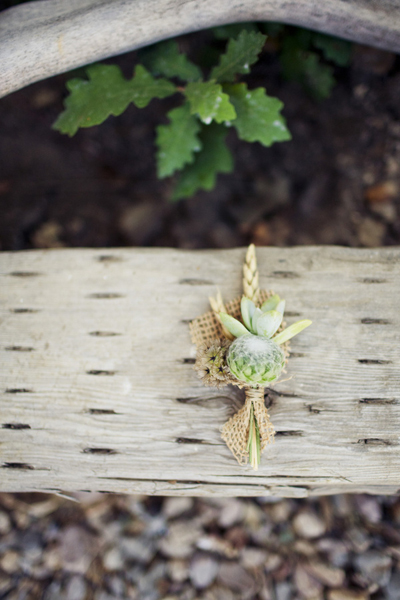rustic burlap and wheat boutonniere