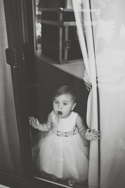 flower girl in tulle dress