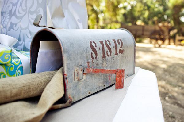 vintage mailbox card box
