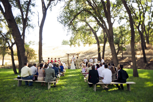 California backyard wedding ceremony