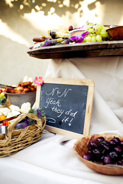 outdoor wedding buffet