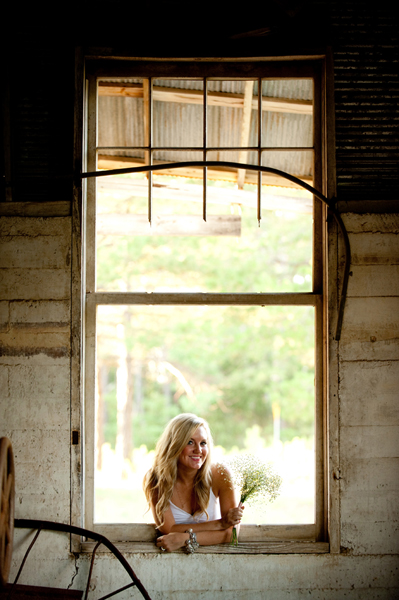 country bridal portrait