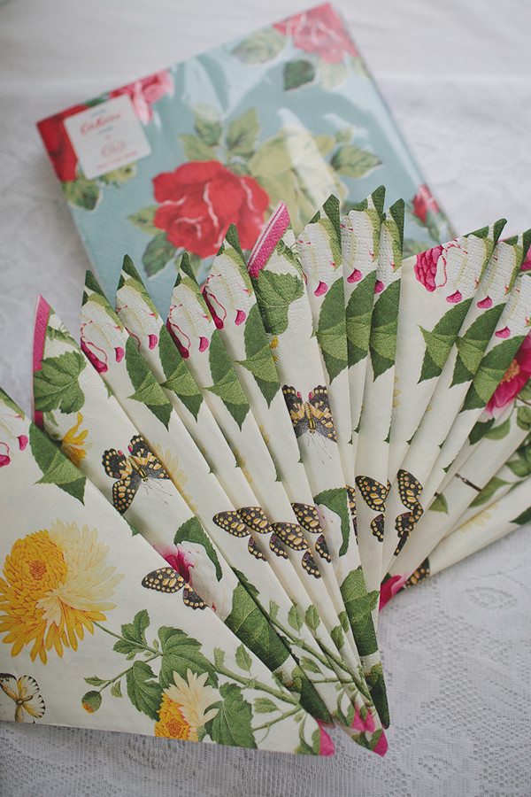 floral wedding napkins