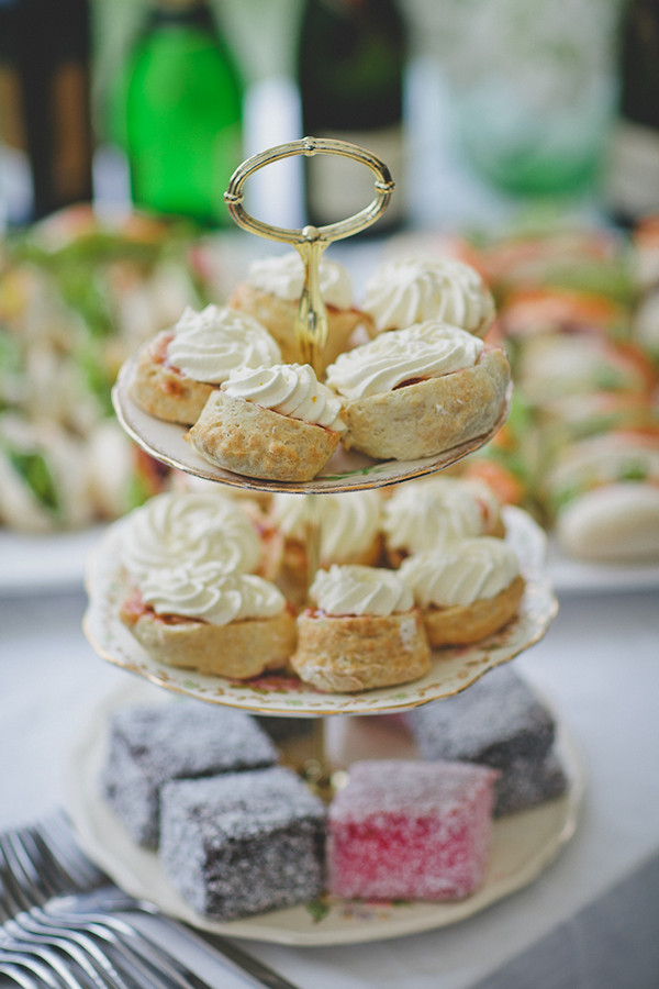 wedding scones with cream
