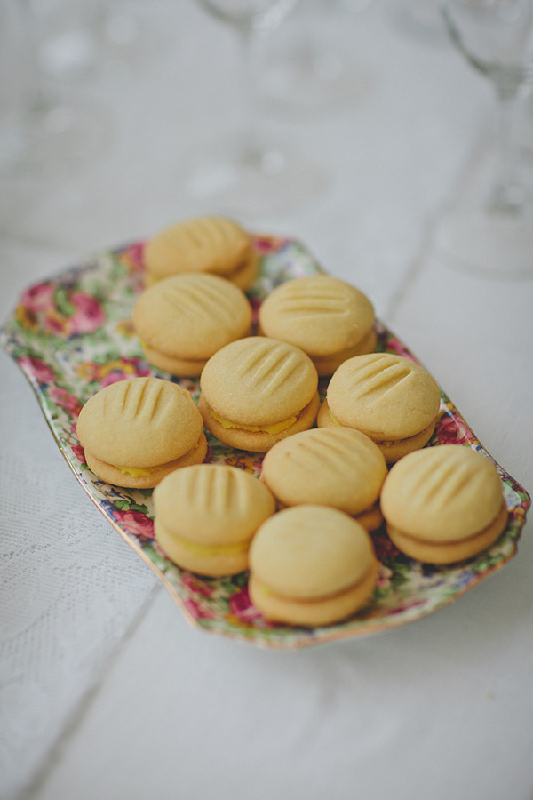 wedding whoopie pies on vintage plate