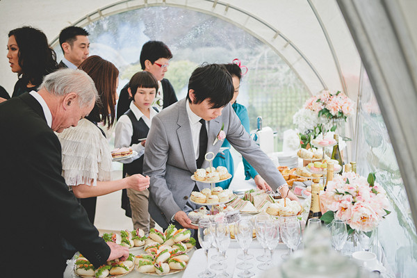 tea themed New Zealand wedding reception