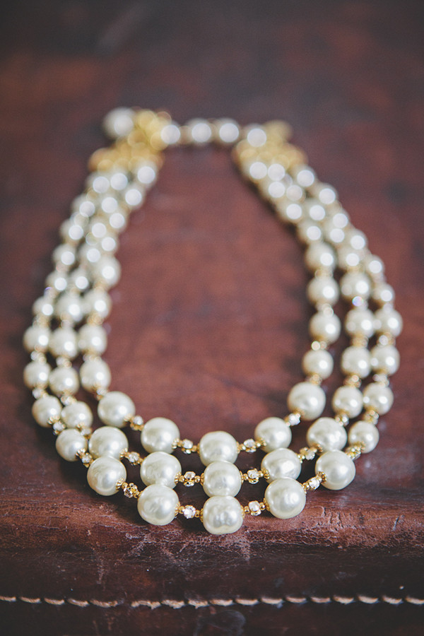 multi-strand pearl bridal necklace