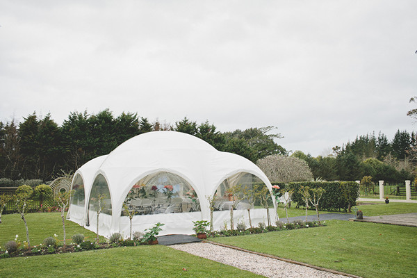domed wedding tent