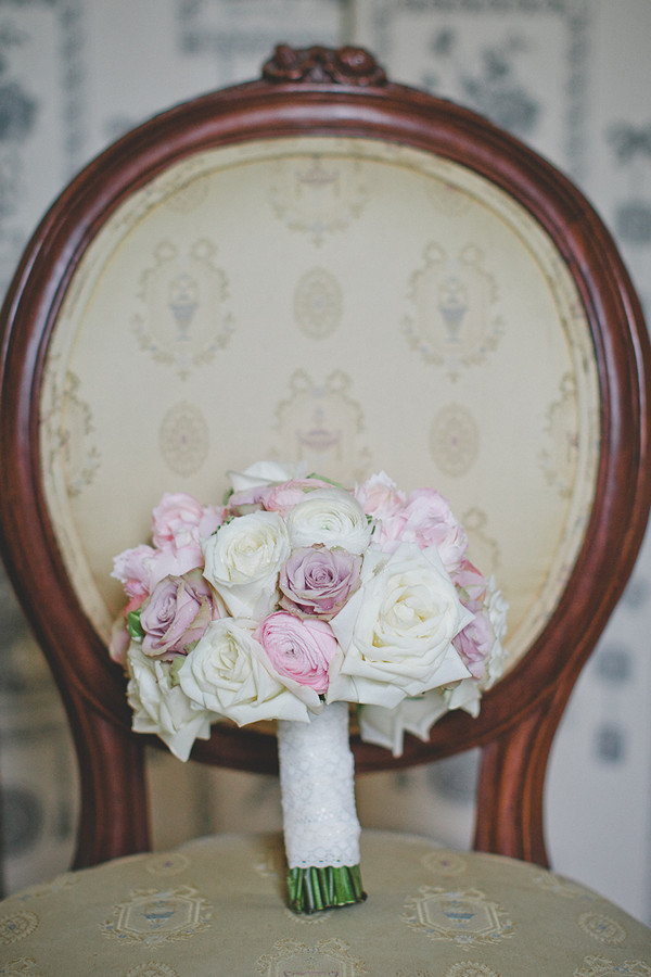 pink, purple, and white rose bouquet