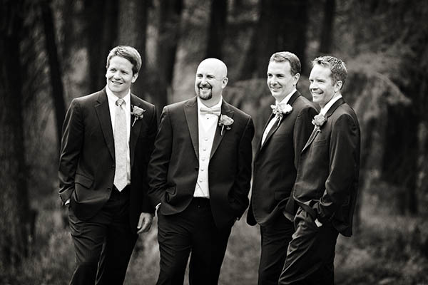 black and white groomsmen portrait