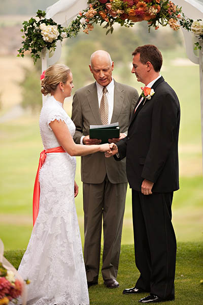 outdoor golf course wedding