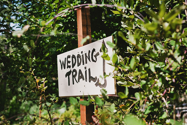 wedding trail sign