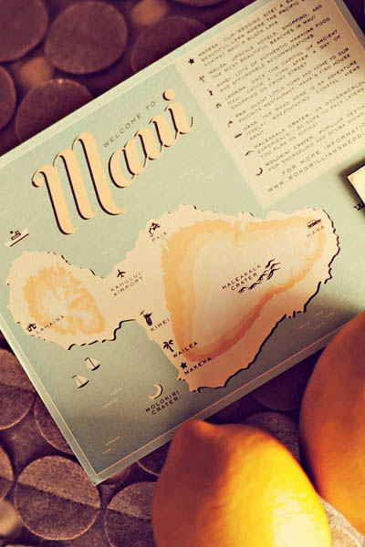 Maui wedding map