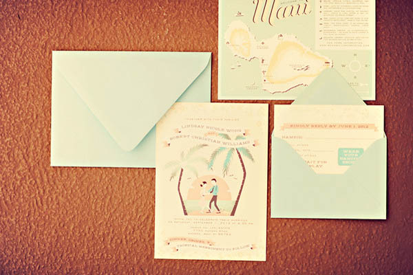 Hawaii destination wedding invitations