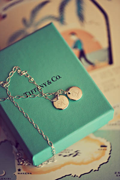 Tiffany monogram necklace