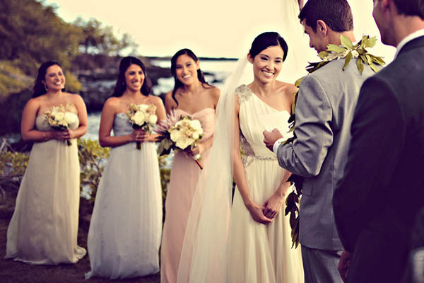 Outdoor Maui wedding ceremony