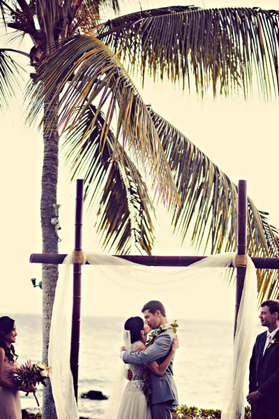 Maui wedding ceremony by the ocean