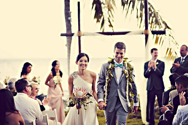 oceanfront Maui wedding ceremony
