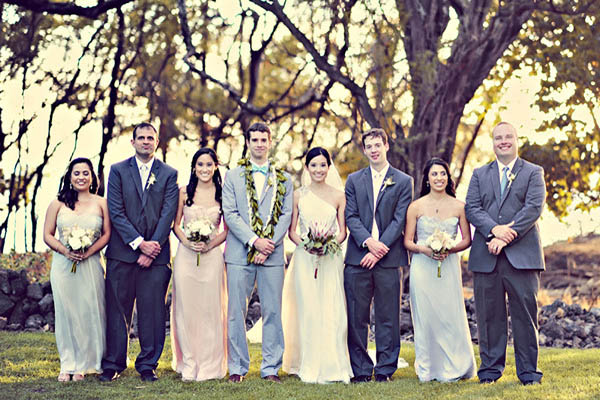 bridal party in Hawaii