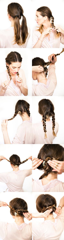 Super 12 Diy Braid Tutorials Great For Brides Short Hairstyles For Black Women Fulllsitofus