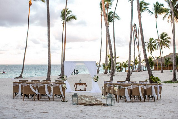 Punta Cana beach wedding ceremony