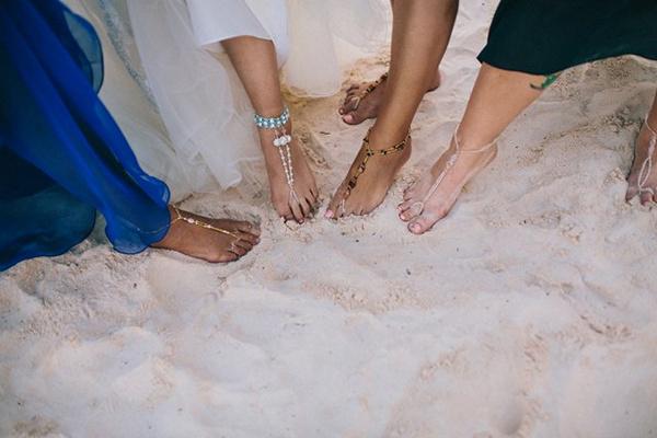 barefoot bridesmaids