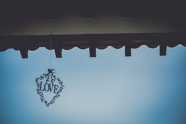 hanging love decoration