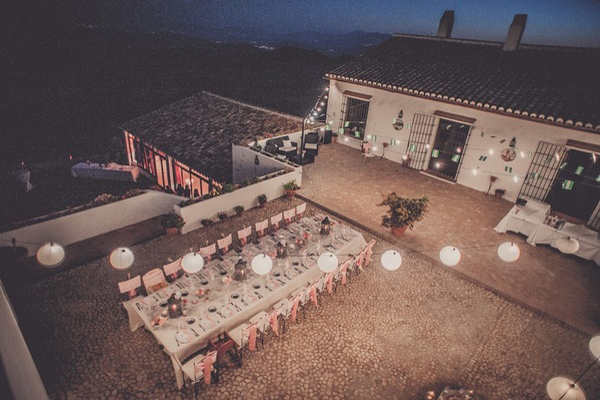 spanish vineyard wedding reception