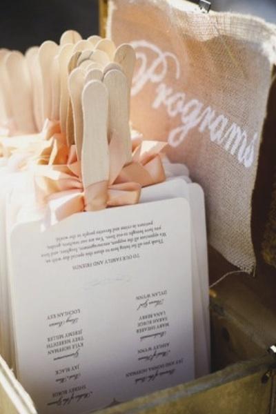 how to make a wedding program