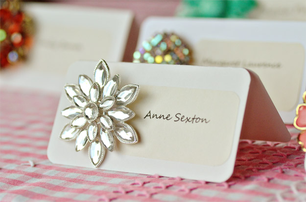 diy vintage name cards