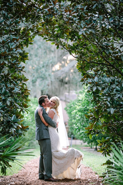 bride and groom portrait on Florida estate