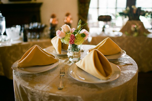 Florida estate wedding reception