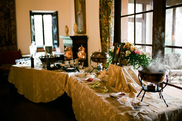 Florida estate wedding buffet
