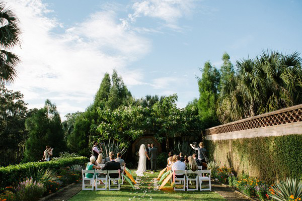 outdoor Florida estate wedding reception