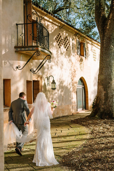 Florida estate wedding ceremony