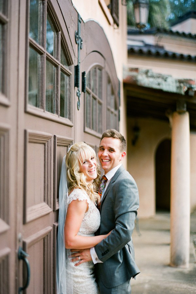 Florida estate wedding portrait