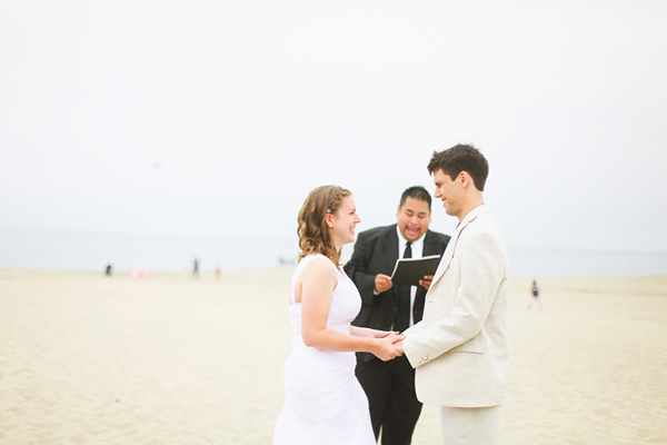 California beachfront wedding ceremony