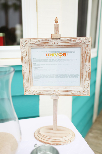 beachfront wedding sign