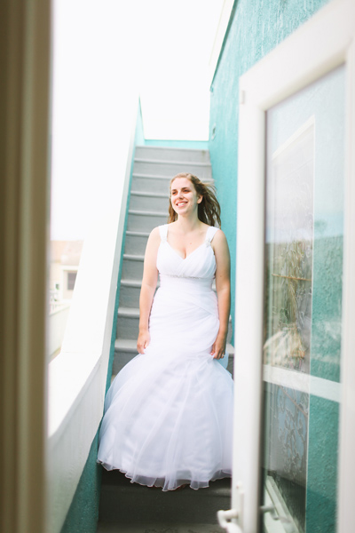 bride in mermaid gown