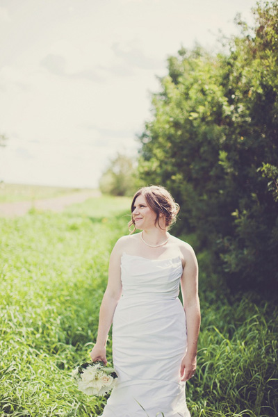 bride portrait in Saskatchewan