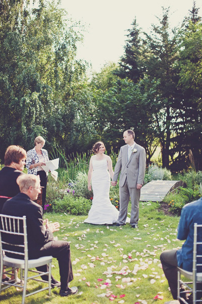 backyard farm wedding ceremony